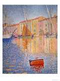 The Red Buoy, Saint Tropez, 1895 Gicléetryck av Paul Signac
