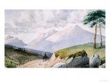 Mountainous Landscape Giclee Print by John Ruskin