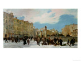 Siege of Paris. a Yard for Firewood, Boulevard de Montparnasse, January 1871 Giclee Print by Jacques Guiaud