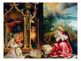 Nativity and Concert of Angels from the Isenheim Altarpiece, Central Panel Giclee Print by Matthias Grünewald