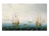 Shipping on Stormy Seas Giclee Print by Aert Van Antum
