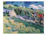 Cottages at Auvers-Sur-Oise, c.1890 Giclee Print by Vincent van Gogh