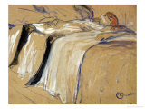 "Woman Lying on Her Back - Lassitude, Study for ""Elles"", 1896 Premium Giclee Print by Henri de Toulouse-Lautrec"
