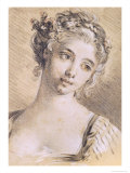 Head of a Young Girl Giclee Print by Francois Boucher