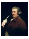 Portrait of Dr Erasmus Darwin Scientist, Inventor and Poet, Grandfather of Charles Darwin, 1792-93 Giclee Print by Joseph Wright of Derby
