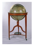 A Regency Terrestrial Library Globe on Mahogany Stand, 1806 (Mixed Media) Giclee Print by  English