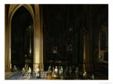 Viaticum in the Interior of a Church Reproduction procédé giclée par Pieter Neeffs the Elder