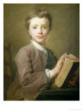 A Boy with a Book, circa 1740 Giclee Print by Jean-baptiste Perroneau