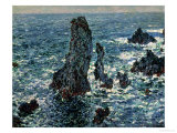 The Rocks at Belle Ile, 1886 Reproduction procédé giclée par Claude Monet