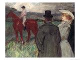 At the Racecourse, 1899 Lámina giclée por Henri de Toulouse-Lautrec