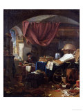 The Alchemist's Laboratory Premium Giclee Print by Thomas Wyck