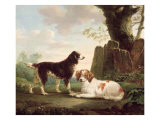 Two Spaniels in a Landscape Giclee Print by Charles Towne