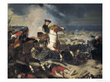 Battle of the Dunes, 14th June 1658, 1837 Giclee Print by Charles-Philippe Lariviere