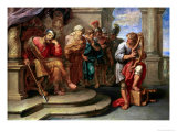 Saul Listening to David Playing the Harp Giclee Print by Erasmus Quellinus