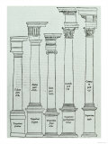 The Orders of Architecture from Il Libro Primo D'Architettura by Sebastiano Serlio, 1540 Giclee Print