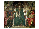 The Virgin and Saints, 1474 Giclee Print by Francesco del Cossa