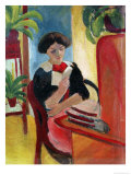 Elizabeth Reading Giclee Print by Auguste Macke