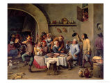 The King Drinks Giclee Print by David Teniers the Younger