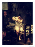 The Flea, 1710-30 Giclee Print by Giuseppe Maria Crespi