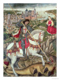 St George and the Dragon Premium Giclee Print by Pedro Nisart