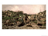 Repairing the Railway, 1874 Giclee Print by Konstantin Apollonovich Savitsky