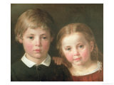 Benno Six Years and Elna, Four Years, 1864 Giclee Print by Bengt Nordenberg
