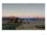 The Shepherds, Led by the Star, Arriving at Bethlehem, 1863 Giclee Print by Octave Penguilly l'Haridon