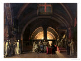 The Inauguration of Jacques de Molay into the Order of Knights Templar in 1295 Giclee Print by Francois-Marius Granet
