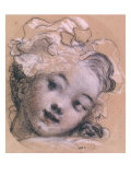 Portrait Presumed to be Rosalie, Daughter of the Artist Giclee Print by Jean-Honor&#233; Fragonard