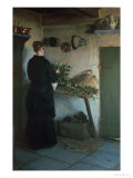Lady in the Kitchen Giclee Print by Viggo Johansen