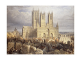 Lincoln Cathedral Premium Giclee Print by Frederick Mackenzie