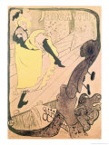 Poster Advertising Jane Avril at the Jardin de Paris, 1893 Lámina giclée por Henri de Toulouse-Lautrec