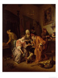 Sick Old Man Giclee Print by Jan Havicksz. Steen