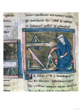 Geometry from a Collection of Scientific, Philosophical and Poetic Writings, French, 13th Century Giclee Print