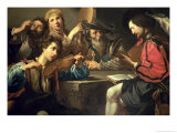 A Musical Gathering Giclee Print by  Valentin de Boulogne