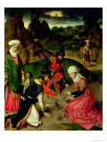 Gathering of the Manna, from the Altarpiece of the Last Supper, 1464-68 Giclee Print by Dieric Bouts