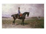 Emperor Franz Joseph I on His Austrian Horse, 1898 Giclée-Druck von Julius von Blaas