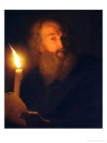 Man with a Candle Giclee Print by Godfried Schalken Or Schalcken