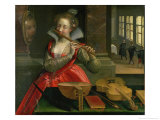 Allegory of Music, circa 1600 Giclee Print by Dirk De Quade Van Ravesteyn