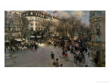 The Boulevard des Italiens, circa 1900 Giclee Print by Jean Francois Raffaelli