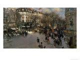 The Boulevard des Italiens, circa 1900 Giclee Print by Jean Francois Raffaelli