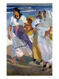 Valencian Fisherwomen, 1915 Giclee Print by Joaquín Sorolla y Bastida