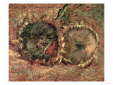 Two Cut Sunflowers, c.1887 Giclée-trykk av Vincent van Gogh