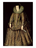 Portrait of a Lady in Elizabethan Dress Giclee Print by John De Critz The Elder