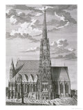 View of St. Stephan's Cathedral, Vienna Premium Giclee Print by Salomon Kleiner