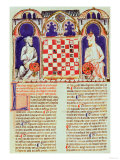 Two Men Playing a Game of Chess, Page from the 'Book of Games Giclee Print