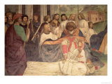 The Death of St. Benedict, from the Life of St. Benedict Giclee Print by L. Signorelli