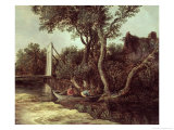 Landscape with Bridge, circa 1628 Giclee Print by Jan Josephsz. Van Goyen