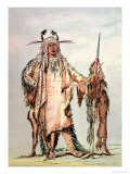 Blackfoot Indian Pe-Toh-Pee-Kiss, the Eagle Ribs Giclee Print by George Catlin