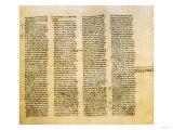 Folio from St. John's Gospel, Facsimile of Codex Sinaiticus, 4th Century AD Giclee Print